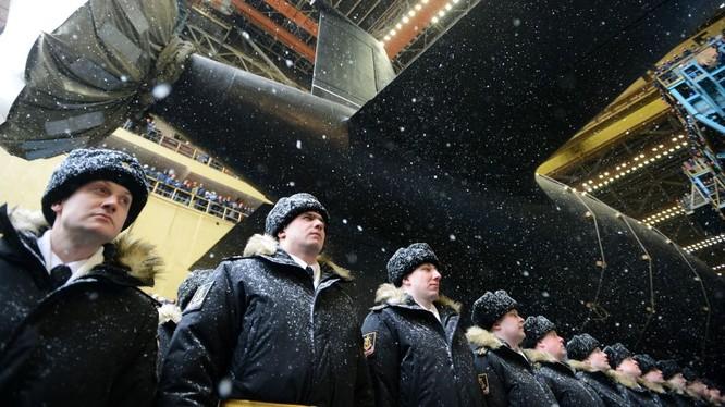 Tàu ngâm hạt nhân mang tên lửa đạn đạo liên lục địa của Nga