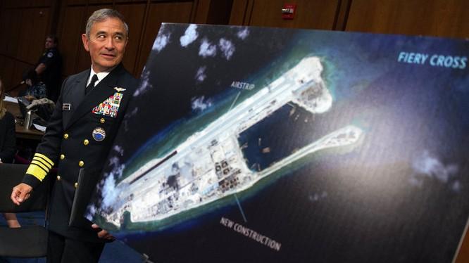 Đô đốc Harris từng nhiều lần tỏ thái độ cứng rắn với Trung Quốc về Biển Đông khiến Trung Quốc tức giận
