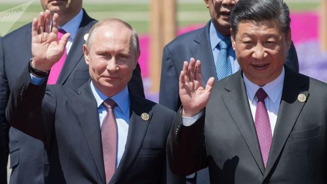 """Ông Putin và ông Tập Cận Bình tại hội nghị """"vành đai và con đường"""" tổ chức tại Trung Quốc"""