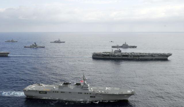 Hải quân Mỹ và Nhật Bản thường xuyên tập trận chung và vừa có cuộc diễn tập trên Biển Đông