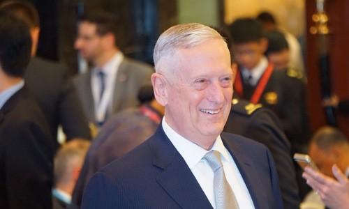 Bộ trưởng Mattis tại Đối thoại Shangri-La. Ảnh: Vnexpress.