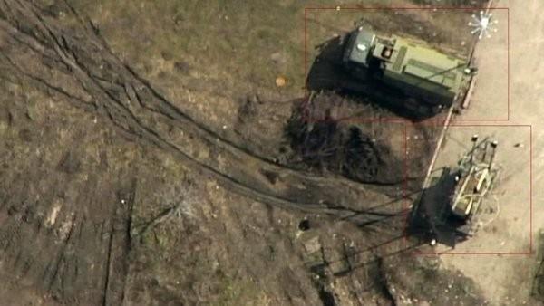 Ảnh do UAV chụp mà phương Tây tố cáo là hệ thống tác chiến điện tử Nga chuyển cho dân quân ly khai ở đông Ukraine