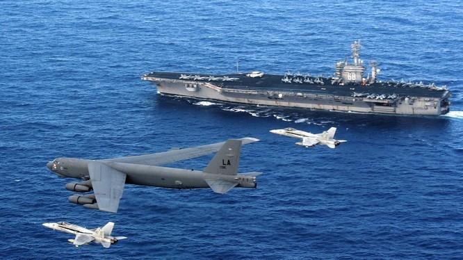 Cụm tác chiến tàu sân bay là biểu tượng cho quyền lực và sức mạnh toàn cầu của Mỹ