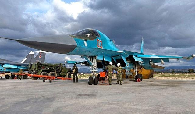 Cường kích tối tân Su-34 Nga tham gia chiến dịch quân sự tại Syria