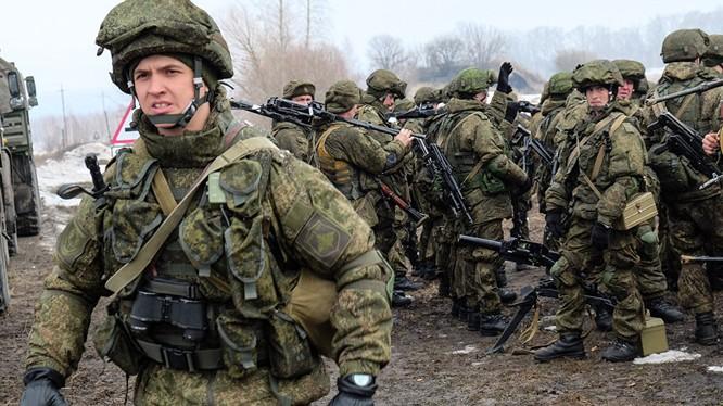 Binh sĩ Nga trong cuộc tập trận Zapad 2017