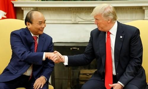 Tổng thống Mỹ Donald Trump tiếp Thủ tướng Nguyễn Xuân Phúc tại Nhà Trắng trong chuyến thăm Mỹ