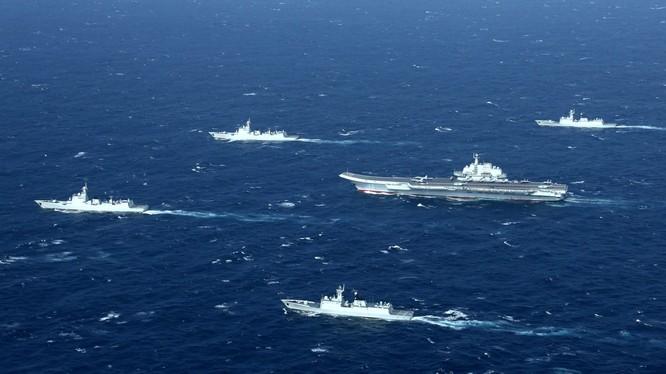 Cụm tác chiến tàu sân bay Trung Quốc rập khuôn theo mô hình Mỹ