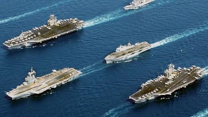 Hải quân Mỹ triển khai lực lượng hùng hậu chưa từng thấy trong nhiều năm qua