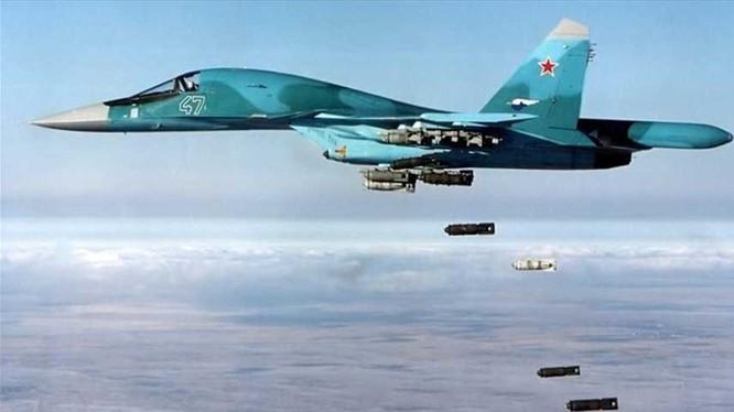 Cường kích Su-34 Nga dội bom diệt mục tiêu tại chiến trường Syria