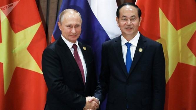 Chủ tịch nước Trần Đại Quang và Tổng thống Nga Putin