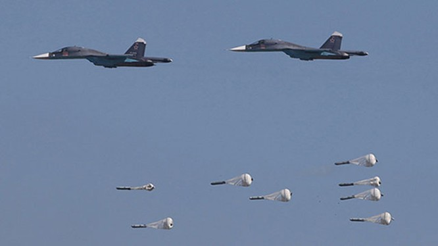 Cường kích Su-34 Nga trút hỏa lực diệt mục tiêu trên chiến trường Syria