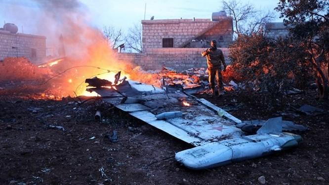 Chiếc cường kích Su-25 của Nga bị bắn rơi hôm 3/2