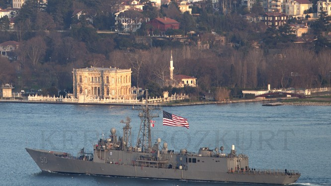 Mỹ liên tục điều chiến hạm vào Biển Đen gửi thông điệp tới Nga