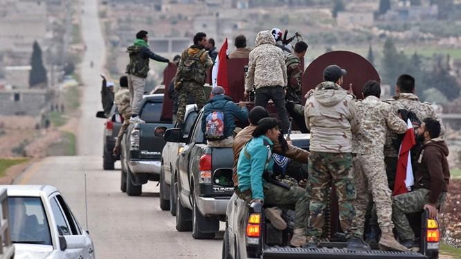 Dân quân Syria tiến vào địa phận Afrin ngăn đà tiến của quân Thổ Nhĩ Kỳ
