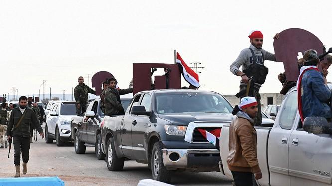 Dân quân Syria tiến vào Afrin hỗ trợ người Kurd chống quân Thổ Nhĩ Kỳ