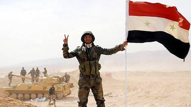 Binh sĩ Syria tại một khu vực được giải phóng khỏi phiến quân