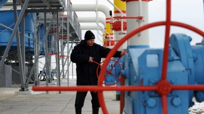 Một trạm bơm khí đốt của Naftogaz tại Ukraine.