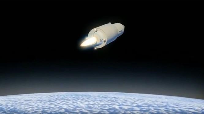 Hình ảnh mô phỏng tên lửa Avangard của Nga