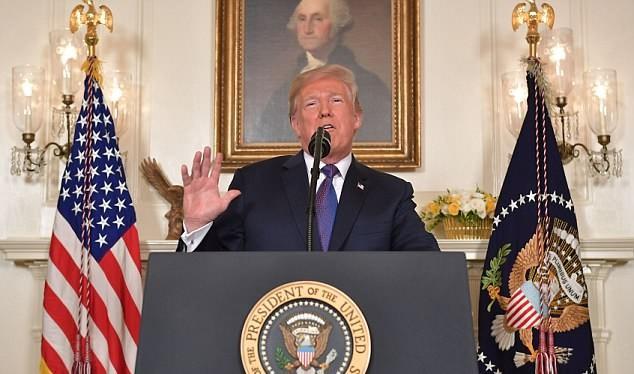 Ông Trump lên truyền hình tuyên bố phát lệnh tấn công Syria hôm 14/4