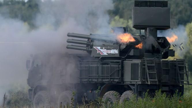 Hệ thống phòng không Pantsir của Nga được cho là nhân tố giúp Syria bắn hạ nhiều tên lửa của liên quân Mỹ-Anh-Pháp