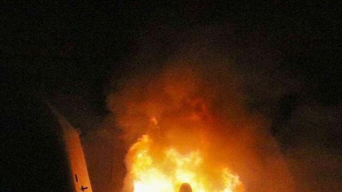 Chiến hạm Mỹ USS Monterey phóng 30 tên lửa Tomahawk tấn công Syria hôm 14/4