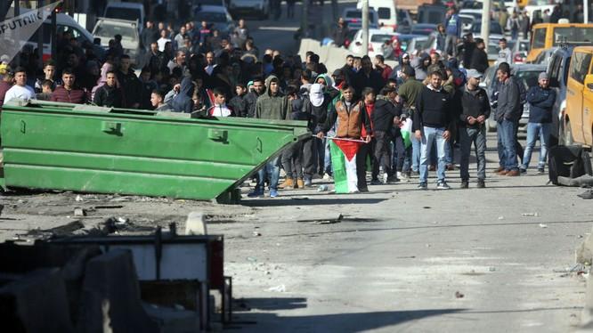 Người Palestin rầm rộ xuống đường biểu tình phản đối Mỹ mở đại sứ quán tại Jerusalem