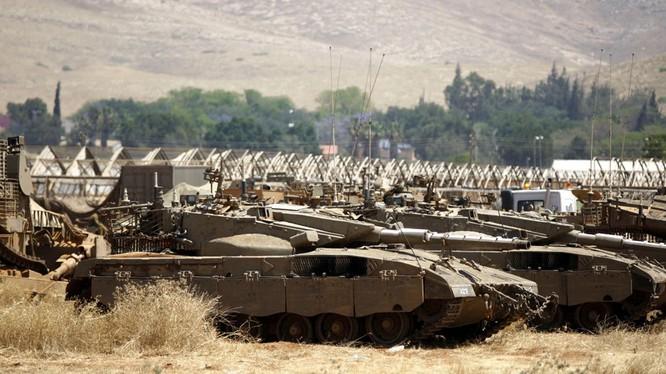 Dàn xe tăng Merkava của quân đội Israel