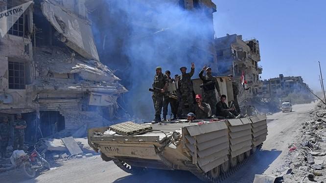 Quân đội Syria đã quét sạch khủng bố tại ngoại ô Damascus