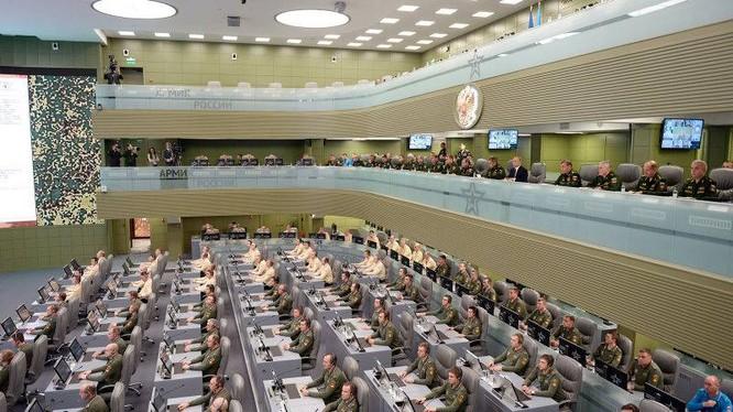 Một góc sở chỉ huy bộ tổng tham mưu quân đội Nga