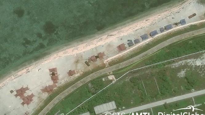 Hình ảnh vệ tinh của AMTI cho thấy Trung Quốc triển khai các hệ thống vũ khí mới trên đảo Phú Lâm thuộc quần đảo Hoàng Sa, ngày 12/5/2018.