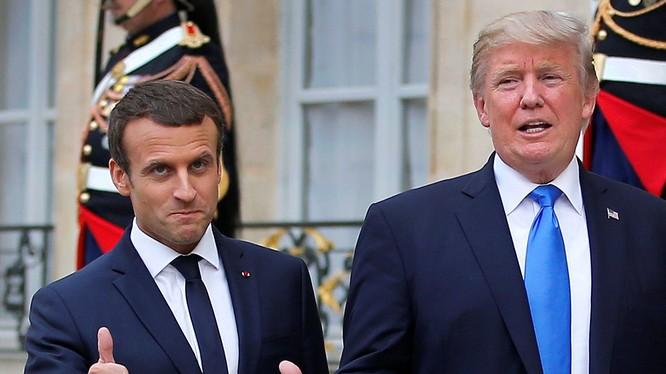 Ông Macron gặp tổng thống Mỹ Donald Trump trong chuyến thăm Mỹ
