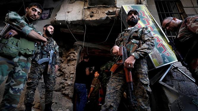 Binh sĩ Syria trên chiến trường
