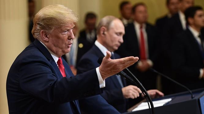 Hai ông Trump và Putin họp báo sau thượng đỉnh tại Helsinki hôm 16/7