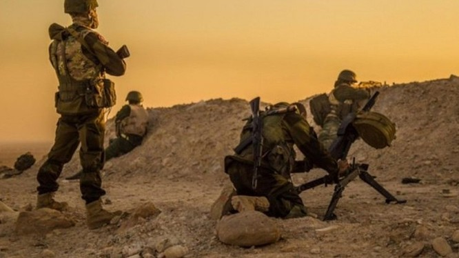 Binh sĩ đặc nhiệm Syria trên chiến trường. Đây là lực lượng tinh nhuệ được các chuyên gia Nga trực tiếp huấn luyện, đào tạo qua thực tế chiến đấu