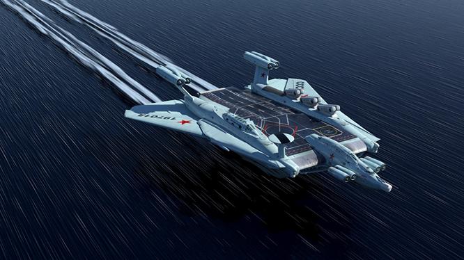 Mô hình máy bay lưỡng cư ekranoplan của Nga