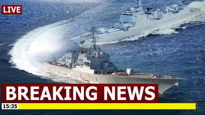 Khu trục hạm lớp Lữ Dương của Trung Quốc bị Mỹ tố áp sát nguy hiểm chiến hạm USS Decatur của Mỹ tuần tra thực thi tự do hàng hải ở Biển Đông mới đây
