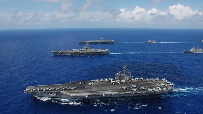 Mỹ lên kế hoạch tập trận rầm rộ ở Biển Đông sau sự cố khu trục hạm Trung Quốc cắt mặt chiến hạm Mỹ tuần tra thực thi tự do hàng hải ở khu vực quần đảo Trường Sa.