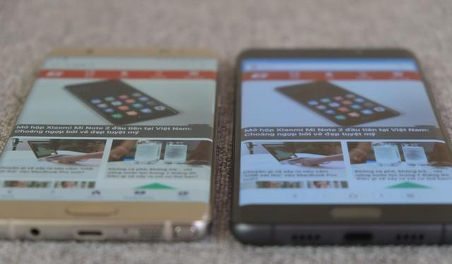 Màn hình ám xanh của Mi Note 2 cho thấy nó chỉ là một bản copy thiếu tinh tế của Galaxy Note7