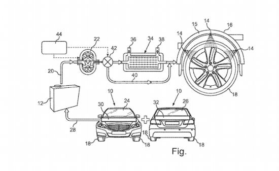 Mô hình làm mát cho lốp xe