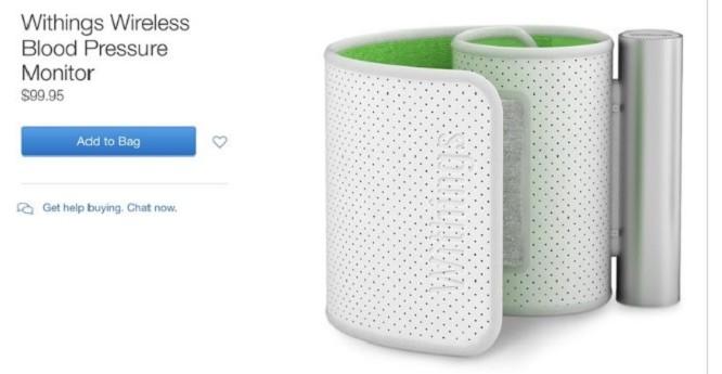 Một sản phẩm của Withings từng được bán trên Apple Store.
