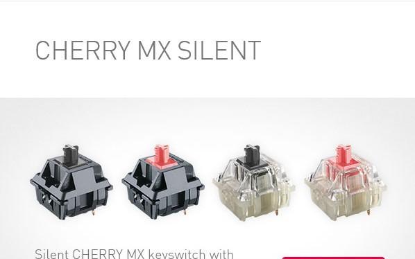 Cherry ra mắt switch Cherry MX Silent mới cho phím cơ