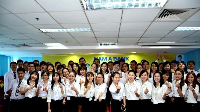 Nam A Bank tuyển chọn được hơn 100 sinh viên ước vào kỳ thực tập tại ngân hàng này