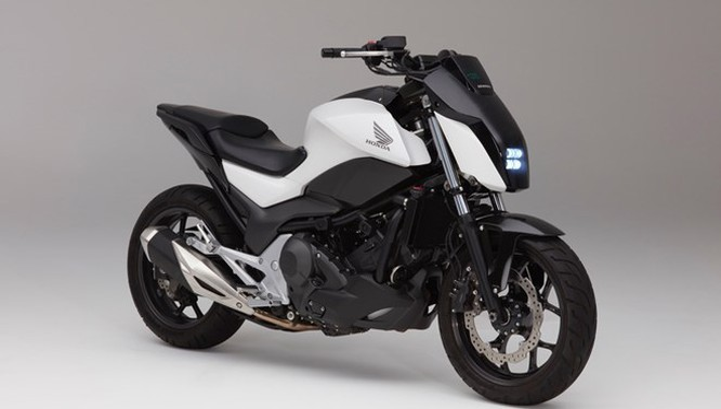 Mẫu xe môtô tự cân bằng của Honda.