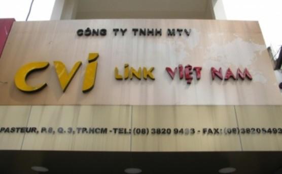 Bảng hiệu của công ty CVI LINK Việt Nam