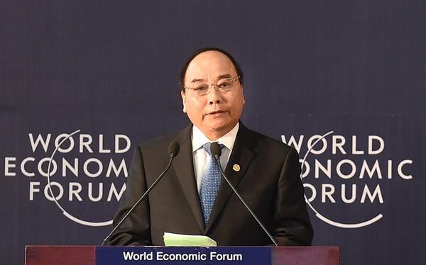 Thủ tướng Nguyễn Xuân Phúc phát biểu khai mạc Diễn đàn Kinh tế thế giới (WEF) về khu vực Mekong tháng 10/2016