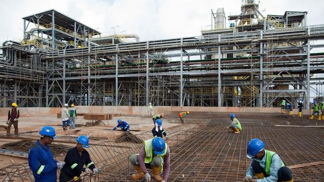 Công nhân xây dựng tại Malaysia