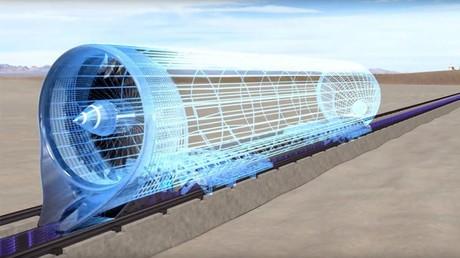 Ý tưởng tàu siêu tốc của Hàn Quốc. Ảnh: Reuters.