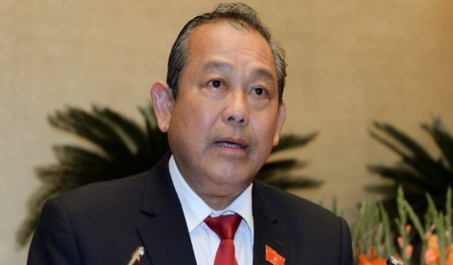 Phó Thủ tướng Trương Hòa Bình, Trưởng Ban Chỉ đạo phòng, chống tội phạm của Chính phủ