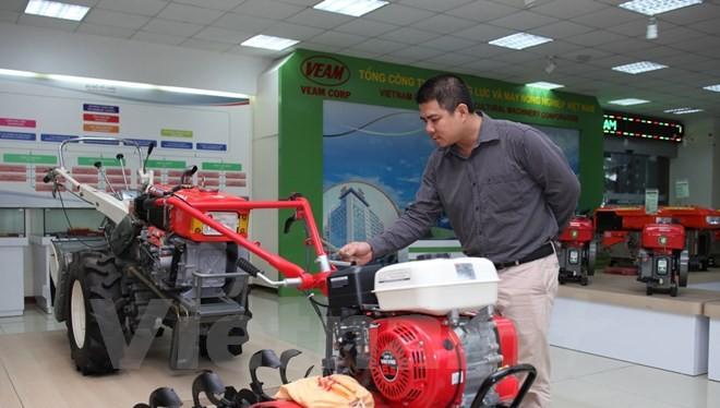Nhiều sản phẩm máy nông nghiệp đã được VEAM nội địa hóa. (Ảnh: Doãn Đức/Vietnam+)