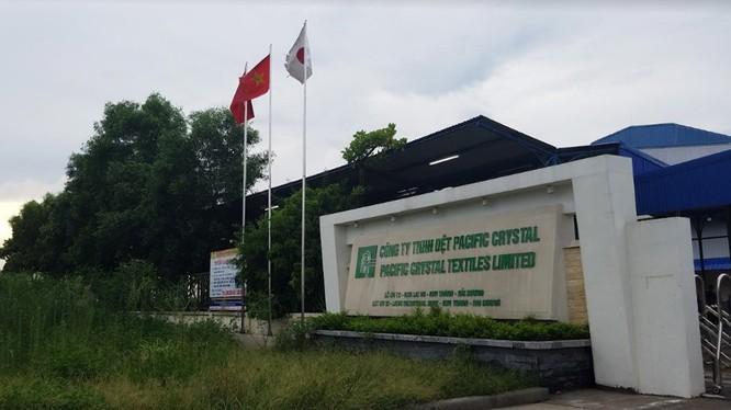 Công ty TNHH dệt Pacific Crystal bị phạt 672 triệu đồng vìxả thải ra môi trường